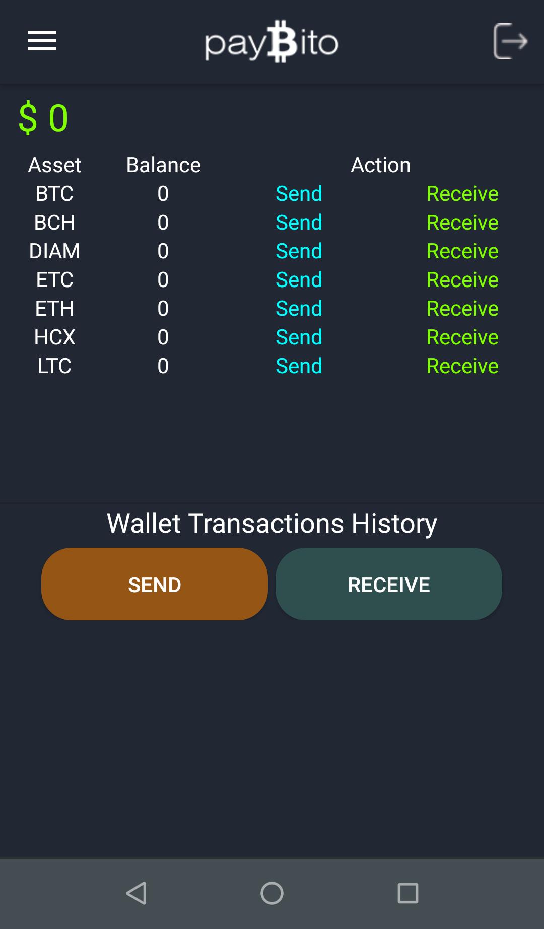 Paybito wallet