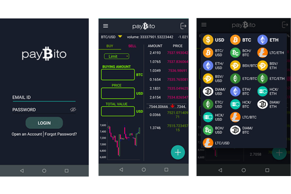Paybito dashboard