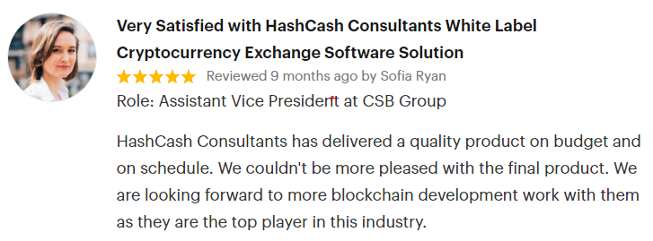 HashCash Goodfirms review